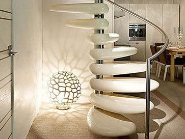 Die Kunststein Treppen mit Schwung