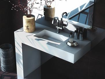 Kunststein Waschtische mit Unterbau