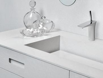 Reinheit in Form und Farbe - Quarzstein Waschtische