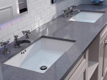 Waschtischplatten mit Unterbaubecken